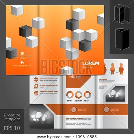 Orange Stationery Template Design