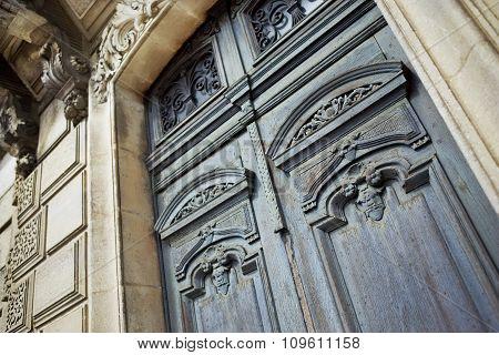 Wooden Door Of An Old House