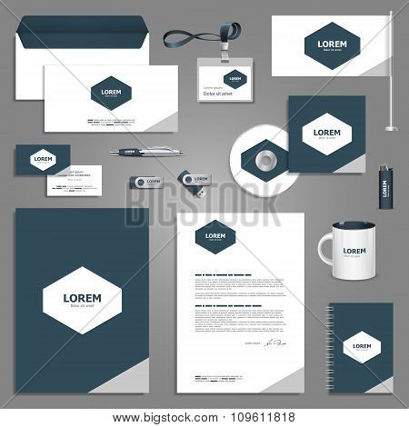 Gray Stationery Template Design