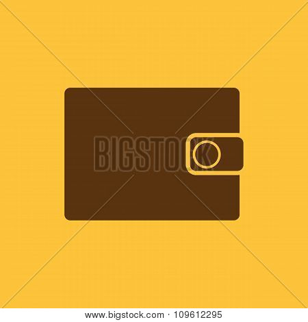 The wallet icon. Purse symbol. Flat