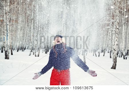 redhead winter woman