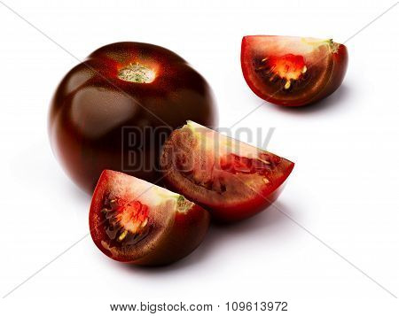 Brown Tomato Isolated Set