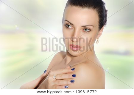 Close-up Portrait Of A Girl With Well-groomed Skin