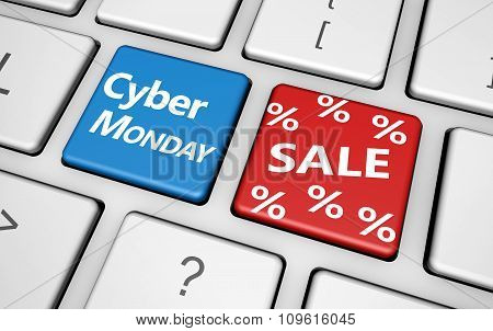 Cyber Monday Online Shopping Sale Concept