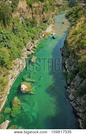 high view Tara River, Montenegro