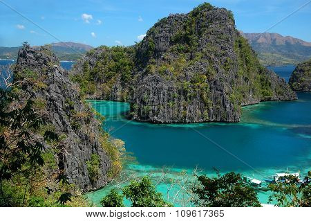 Lake Kayangan in Palawan, Philippines