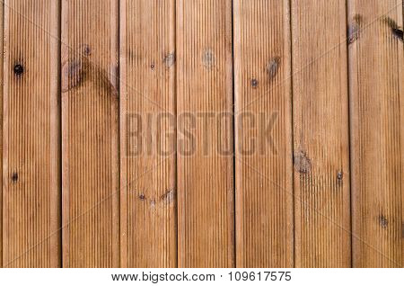 New Wooden Wall Closeup