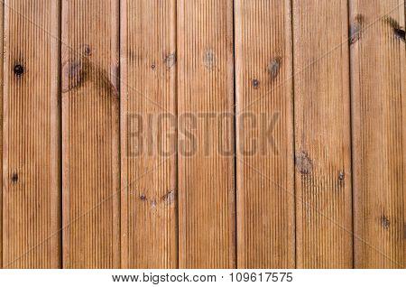 New Wooden Wall Closeup