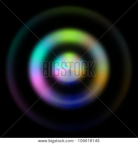Interesting And Unusual Illustration Of 3 Blurred Concentric Circles