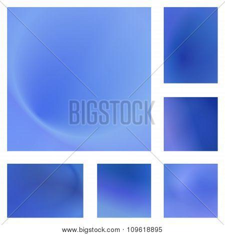 Light blue abstract background design set