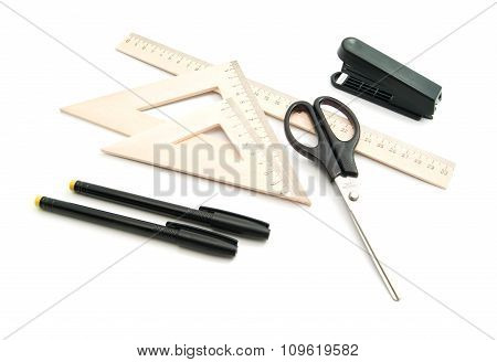 Scissors, Ruler And Other Stationery