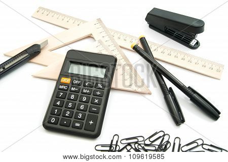 Calculator, Ruler And Other Stationery