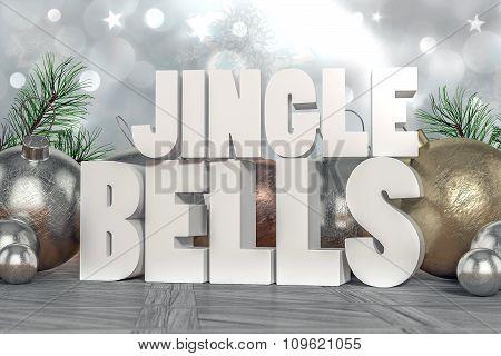Jingle Bells 3D Text