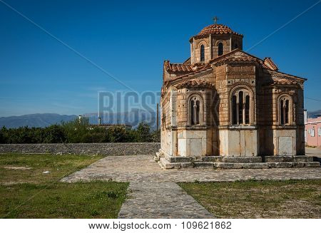 Small Church Of Holy Trinity In Argolida, Peloponnese, Greece