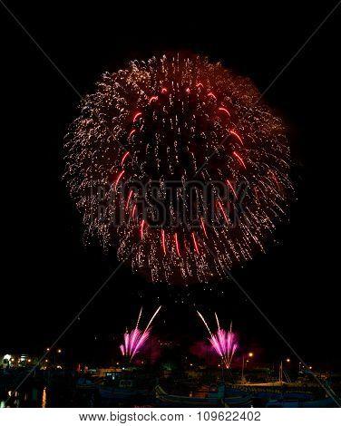 Firework in Marsaxlokk, Malta