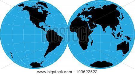 hand draw world map vector