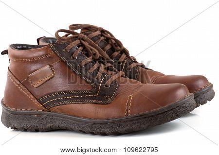 pair men's leather shoes