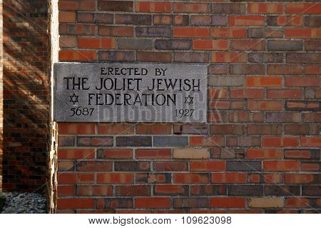 Cornerstone at the Joliet Jewish Congregation