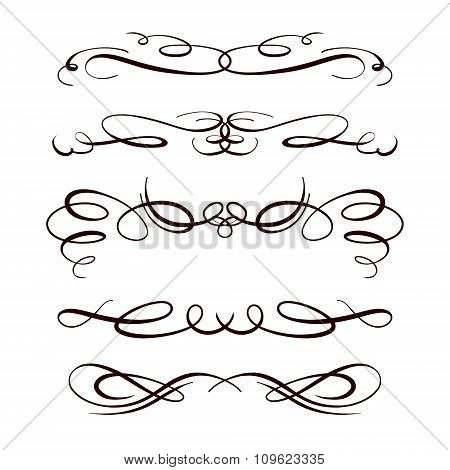 Vector calligraphy elements.