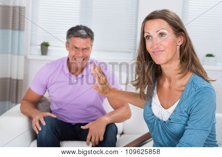Man Shouting To His Wife