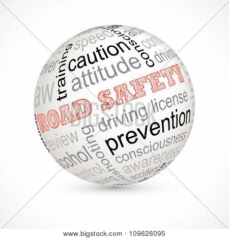 Road Safety Theme Sphere With Keywords
