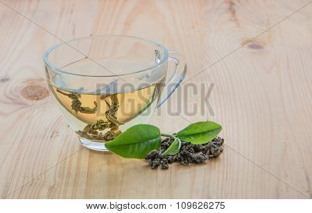 Tea And Tea Leaves.