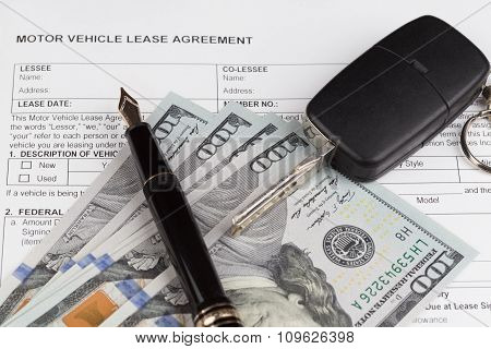 Lease Motor Vehicle Document Agreement