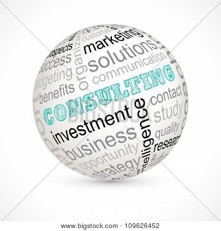 Consulting Theme Sphere With Keywords