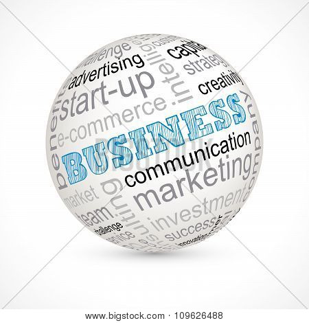 Business Theme Sphere With Keywords