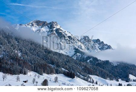 Nice winter scene in Alps
