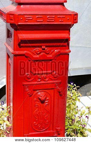 Classic Red Postal Mailbox