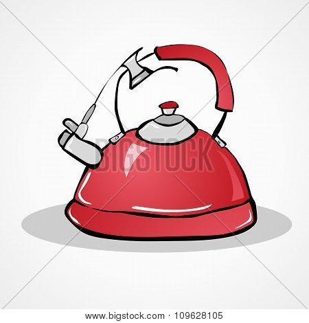 kettle hand drawn
