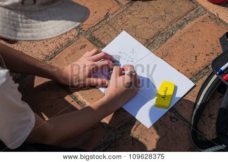 Hand Sketching.