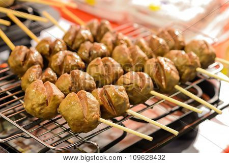 Meatballs On The Grill.