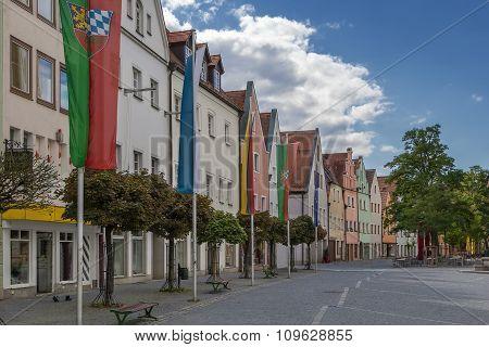 Street In Weiden In Der Oberpfalz, Germany
