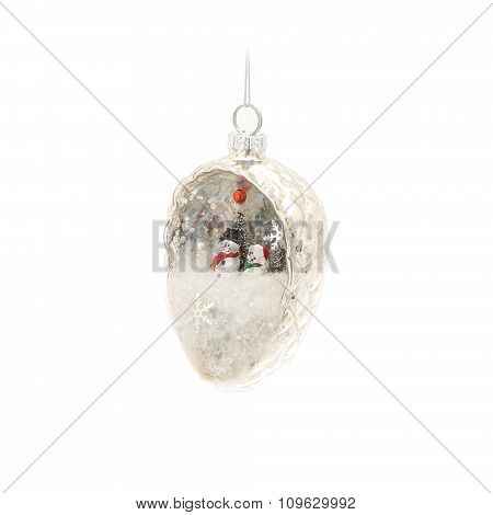Christmas bauble with composition inside