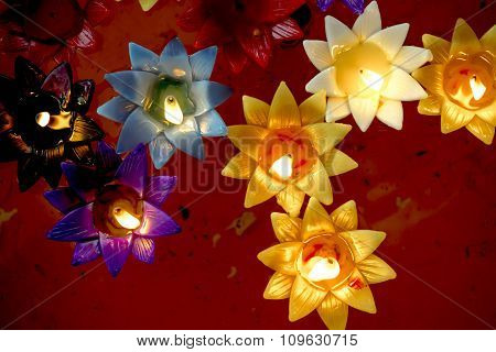 Multicolored Candle lighting,
