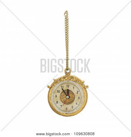 Hanging watch. Christmas ornament