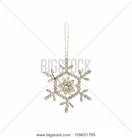 Christmas ornament with strasses