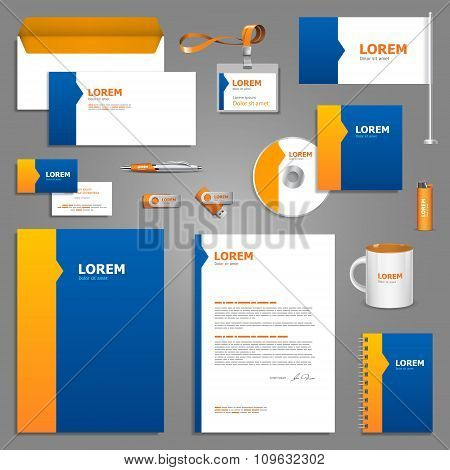 Blue Stationery Template Design