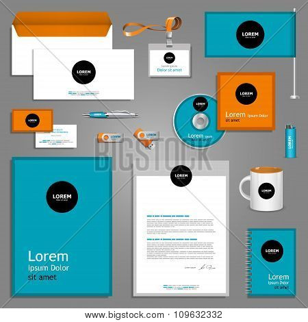 Color Stationery Template Design