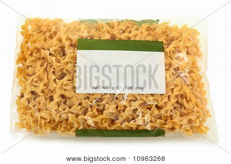 Blank Label Wide Egg Noodle Package