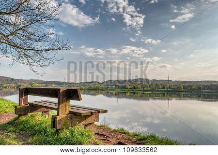 Solitary Chair At Lake Kemnade Bochum