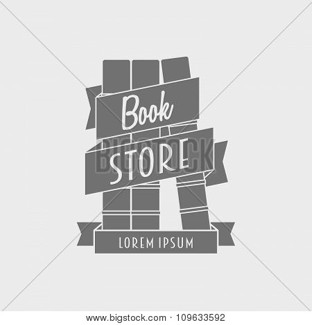 Bookstore Logotype Concept. Can Be Used To Design Cards, Posters, Flyers, Store Windows.