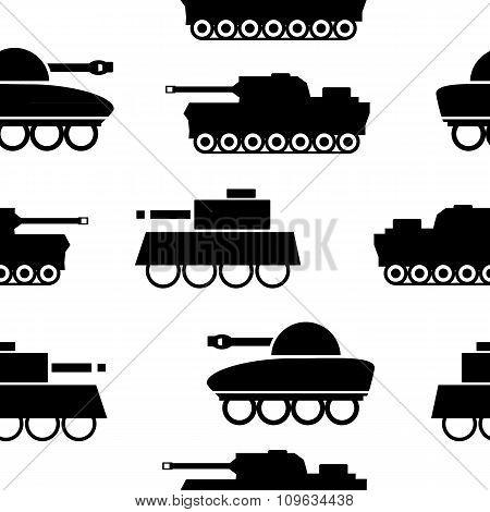Panzer Seamless Pattern.