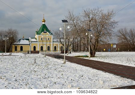 Modest Orthodox Church On The Outskirts Of Moscow.