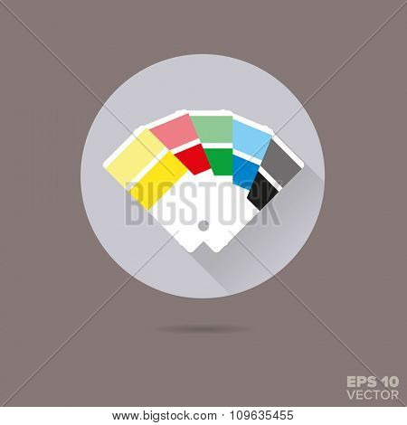 Color picker flat design vector icon
