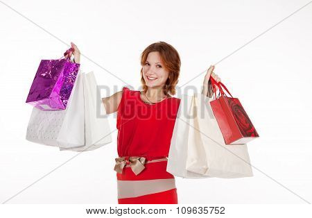 Girl With A Gift Bag