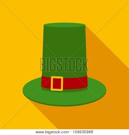 Leprechaun Hat in Flat Style with Long Shadows