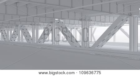 The lower level of the bridge backdrop